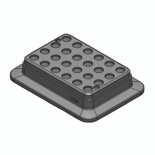 Block, used for 2mL tubes, 24 holes