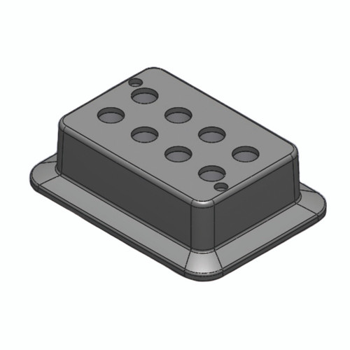 Block, used for 5mL tubes, 8 holes