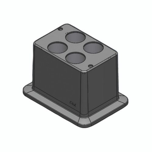 Block, used for 50mL tubes, 4 holes