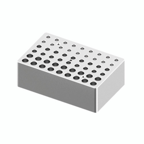 HB120-S Block - For 0.2ml, 0.5ml & 1.5/2ml Tubes, 18 Holes/Size