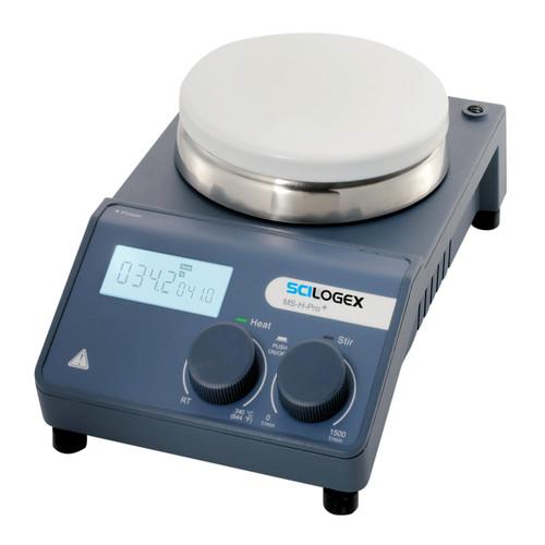 Scilogex MS-H-Pro Plus Circular LCD Digital Magnetic Hotplate Stirrer, ceramic plate, 110V/60Hz