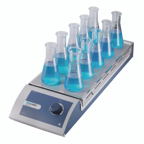 Scilogex MS-M-S10 Analog Magnetic Stirrer 10-Channel, w/ Steel Plate
