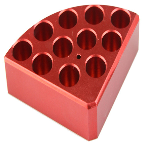 Scilogex Red Quarter Reaction Block, 11 Holes 4 ml Reaction Vessel (15.2mm Dia. x 20mm Depth)