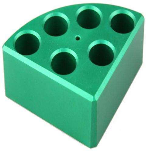 Green Quarter Reaction Block, 6 Holes 8ml Reaction Vessel (17.75mm Dia. x 26mm Depth)