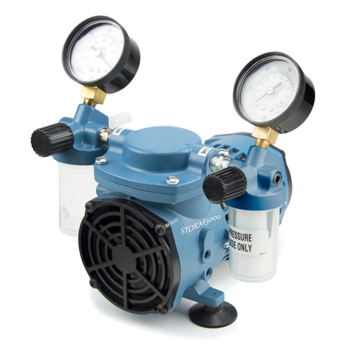 STORM3000 Economical Chemical Resistant Diaphragm Vacuum Pump w/ Regulator