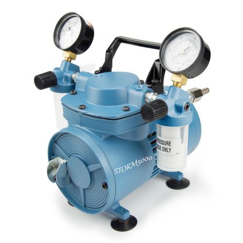 Scilogex STORM5000 Chemical Resistant Diaphragm Vacuum Pump w/ Regulator
