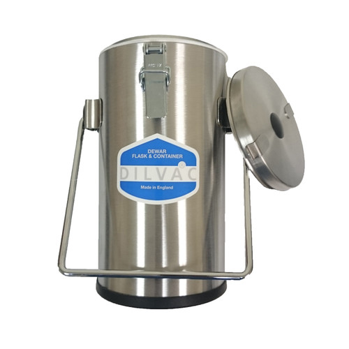Stainless Steel Cased Dewar Flask: 2L