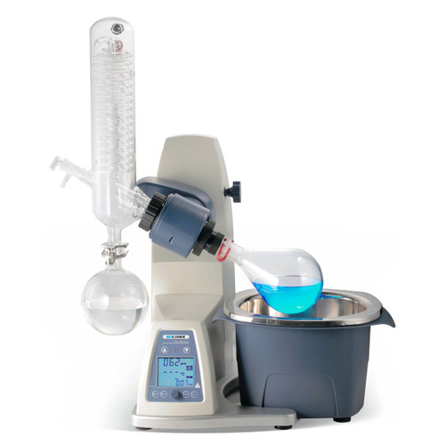 RE100-Pro Rotary Evaporator Including Vertical Coiled Condenser