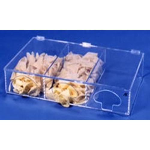 Three Compartment Glove Dispenser (Amber)