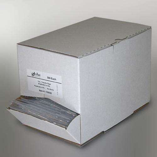 Transfer Pipet, 1.5mL, Pediatric, Graduated to 0.3mL, 115mm, 500/Dispenser Box