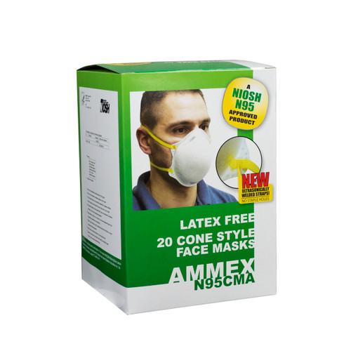 AMMEX N95CMA Cone Masks, Case/240