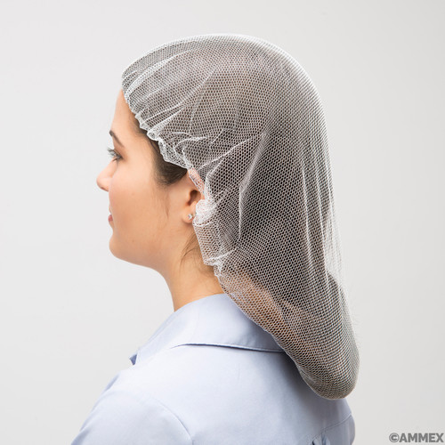 "AMMEX Disposable Hair Net, White - 21"", Case/1000"