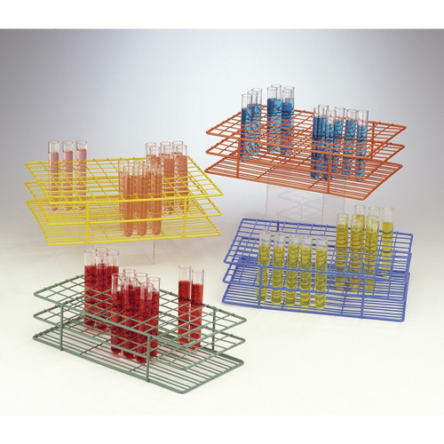 Poxygrid Test Tube Rack, 13mm-16mm Tubes, 48-Places