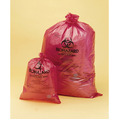 Red Biohazard Disposable Bags, Super Strenth