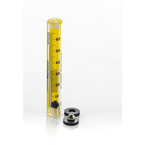 Riteflow Borosilicate Glass Unmounted Flowmeter, 65mm Scale, Size 5