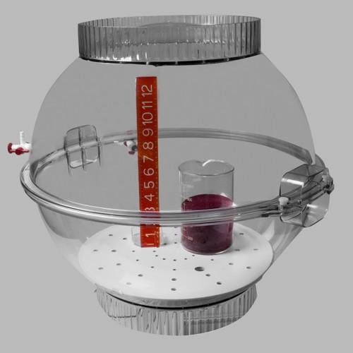 Techni-Dome 360 Vacuum Desiccator w/ 2 gas ports, 2.3CU