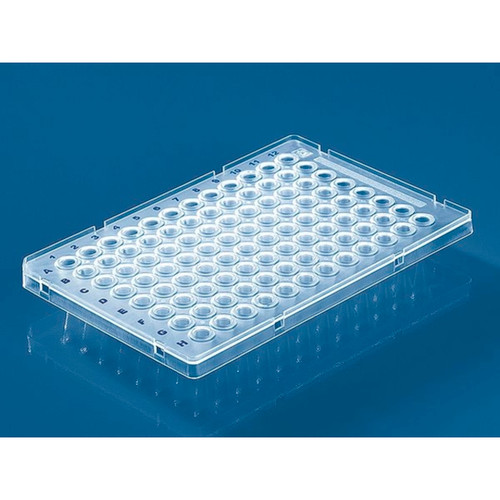 96-Well Clear PCR Plate Low Profile, Raised Semi-Skirted (50 Plates)