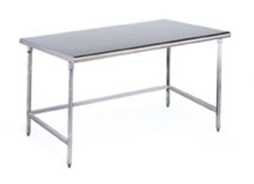 Solid Top Cleanroom Tables - Brushed Finish