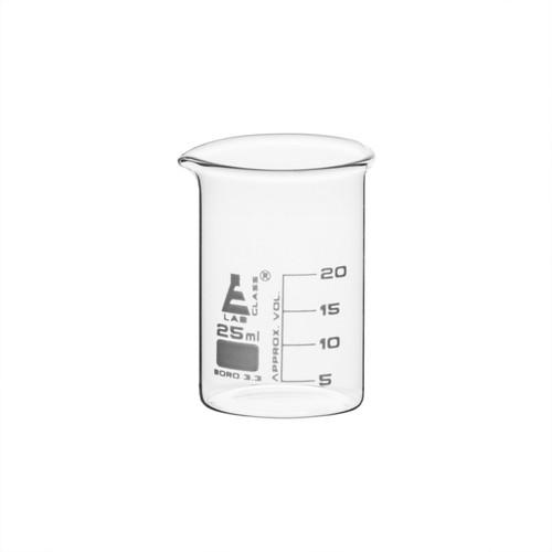 25ml Graduated Beaker Low Form - Borosilicate Glass (CS/12)