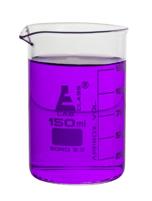 150ml Graduated Beaker Low Form - Borosilicate Glass (CS/12)