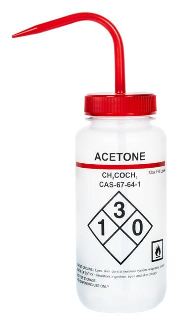 1000ml Labelled Wash Bottle - Acetone - (CS/4)