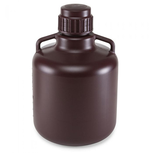 Amber Round Carboy w/ Handles (HDPE) - 10L