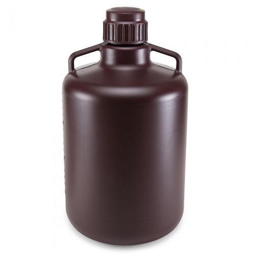 Amber Round Carboy w/ Handles (HDPE) - 20L
