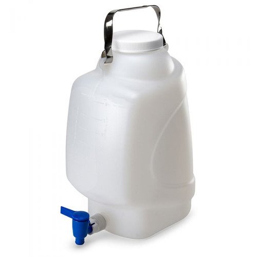 Rectangular Carboy w/ Spigot & Handle (PP)  - 10L