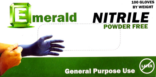 Emerald Nitrile Powder-Free 3 Mil GP (CS/1000)