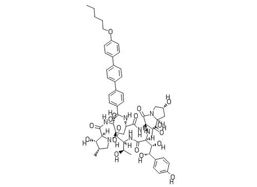 "Anidulafungin;""CAS #=166663-25-8"""