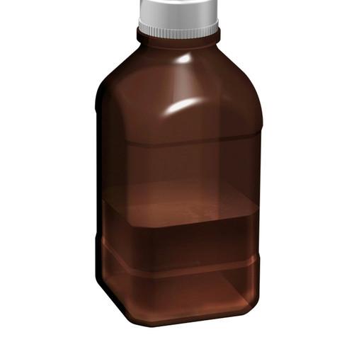 2.5Lltr Amber Autoclavable Bottle, 45mm thread