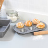 Non-Stick Metallic Marble 6 Cup Muffin Tray