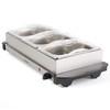 Portable Three Pan Food Warmer Buffet Server, 3 x 1.5 Litre Pans