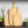 3 Piece Bamboo Paddle Chopping Board Set, Rounded