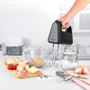 Shimmer Hand Mixer, 5 Speed Settings, Black/Grey/Stainless Steel