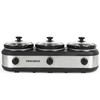 3 In 1 Slow Cooker & Server, 3 x 2.2 Litre Removable Cooking Pots