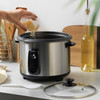 Rice Cooker With Removable Non-Stick Bowl & Tempered Glass Lid, 1.8 Litre