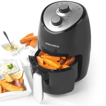 Compact Healthy 1000W Hot Air Fryer, 2 L, Black