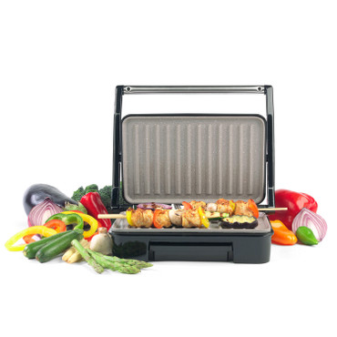 Marble Effect Health Grill & Panini Maker, Grey