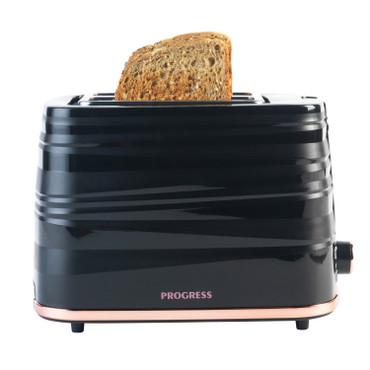 Jupiter 2-Slice Toaster, Black/Rose Gold