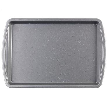 Non-Stick Metallic Marble Baking Tray, 38 cm