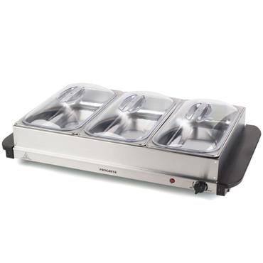 Large Portable Three Food Warmer Buffet Server, 3 x 2.5 L Pans