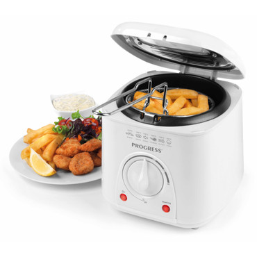 Compact Deep Fat Fryer with Removable Cooking Basket, 1 L