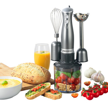 Cosmos 3 in 1 Blender Set , Blend, Whisk & Chop, 500 ml Chopping Bowl, Gun Metal