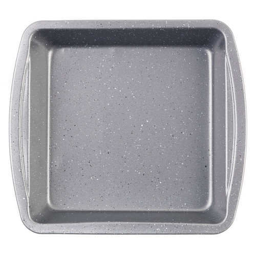 Non-Stick Metallic Marble Square Pan, 26 cm