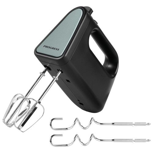 Shimmer Hand Mixer, 5 Speed Settings, Black/Green/Stainless Steel