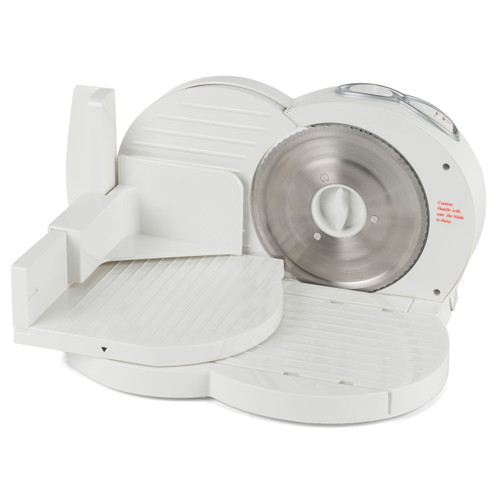 Compact Electric Food Meat Cheese Bread Slicer Slicing Machine, White