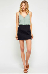 Janet Denim Skirt {Black}