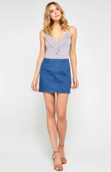 Janet Denim Skirt {Blue}
