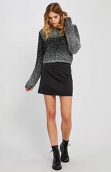 Roselle Mini Skirt {Blk}